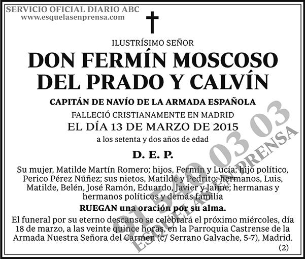 Fermín Moscoso del Prado y Calvín